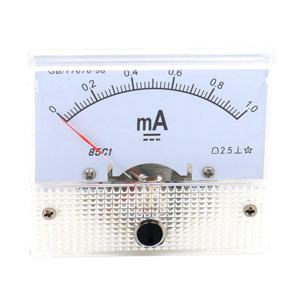 SODIAL(R) Analog 85C1 DC 1mA Panel Meter Amperemeter Measuring device