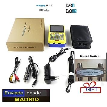 Freesat V8 Finder HD DVB-S2 Buscador de Satélite de Alta Definición Buscador de Satélite Freesat Mpeg-4: Amazon.es: Electrónica