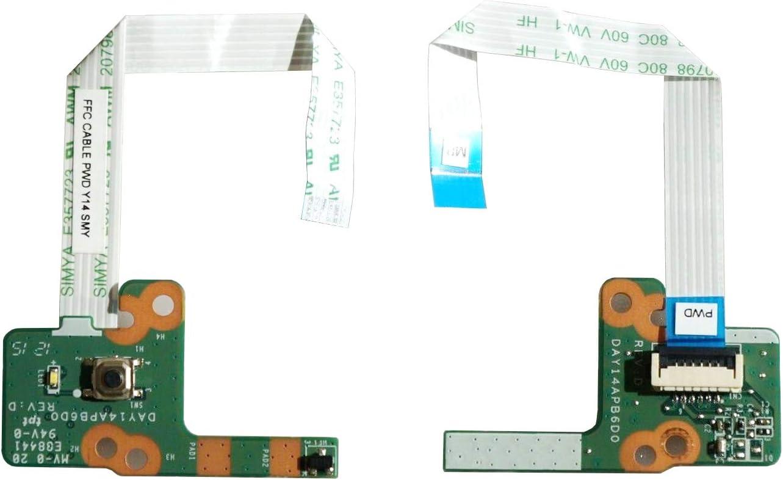 Todiys Power Button Switch Board for HP 15-P 15-K Series 15-P021CY 15-P021NR 15-P050CA 15-P114DX 15-P187CA 15-P213CL 15-P235NR 15-K073CA 15-K163CL 15-P237NR DAY14APB6D0 32Y14PB0000 762496-001