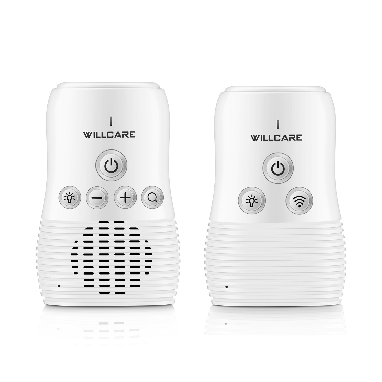 Willcare Upgraded Baby Monitor with Two-Way Audio, Smooth Night Light, Rechargeable Battery Operated Parent Unit & Long Range. (WHITE) DBM-8 2.0