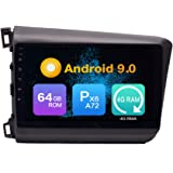 Android 10 4G Ram 64G ROM PX6 Cortex A72 Navigation Radio Steering Wheel Control IPS DSP Bluetooth WiFi for Honda Civic 2012-