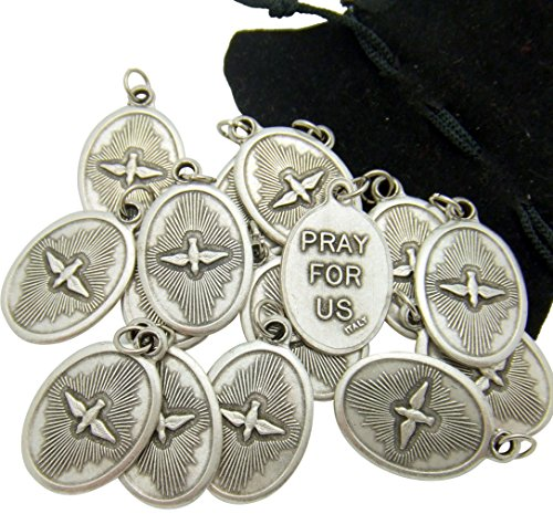 Westman Works Bulk Medal Lot Set of 20 Holy Spirit Confirmation Silver Tone Metal Pendant W Bag from -
