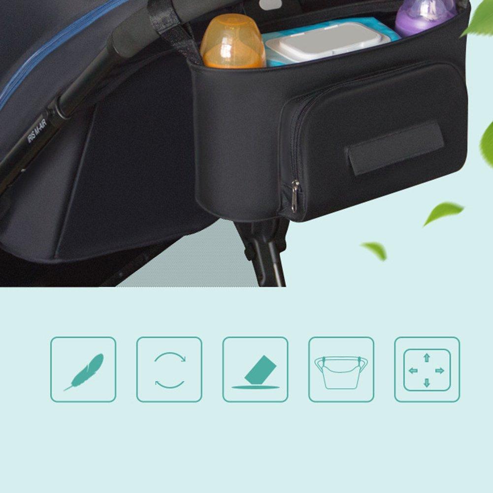 universel toutes les poussettes/ Techsmile b/éb/é Organiseur pour poussette de stockage avec Porte-gobelets /Parapluie double Organiseur pour poussette Poussette Sac de rangement Console