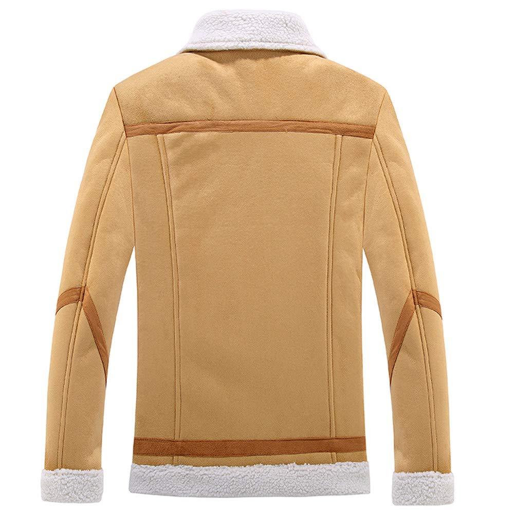 Batnott Herren Jacke Braun Oversize Langarm Wolljacke Warme Wintergraben Lange Outwear Taste Mantel Mäntel Outwear in Übergröße Mens Regular Slim Fit
