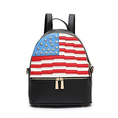 7d4ca6de30 Image Unavailable. Image not available for. Color: Black Faux Leather Mini  Backpack ...