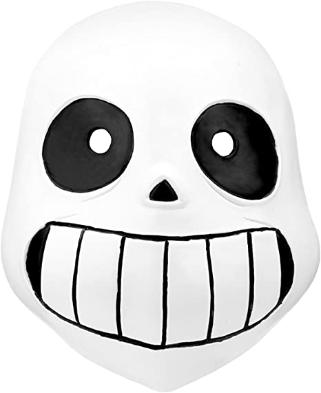 Amazon Co Jp Sans Latex Head Mask Halloween Party Novelty Undertale Costume For Kids Toys