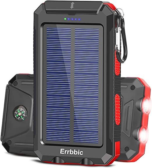 Twin Pack damaged packaging NEW Waterproof Solar Recharge Torch Red /& Green