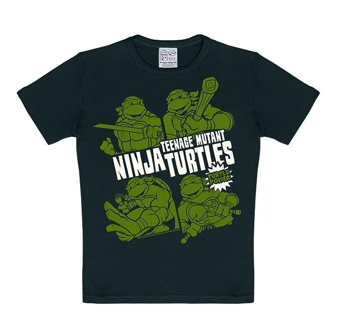 Logoshirt - Camiseta de Tortugas Ninja para niño