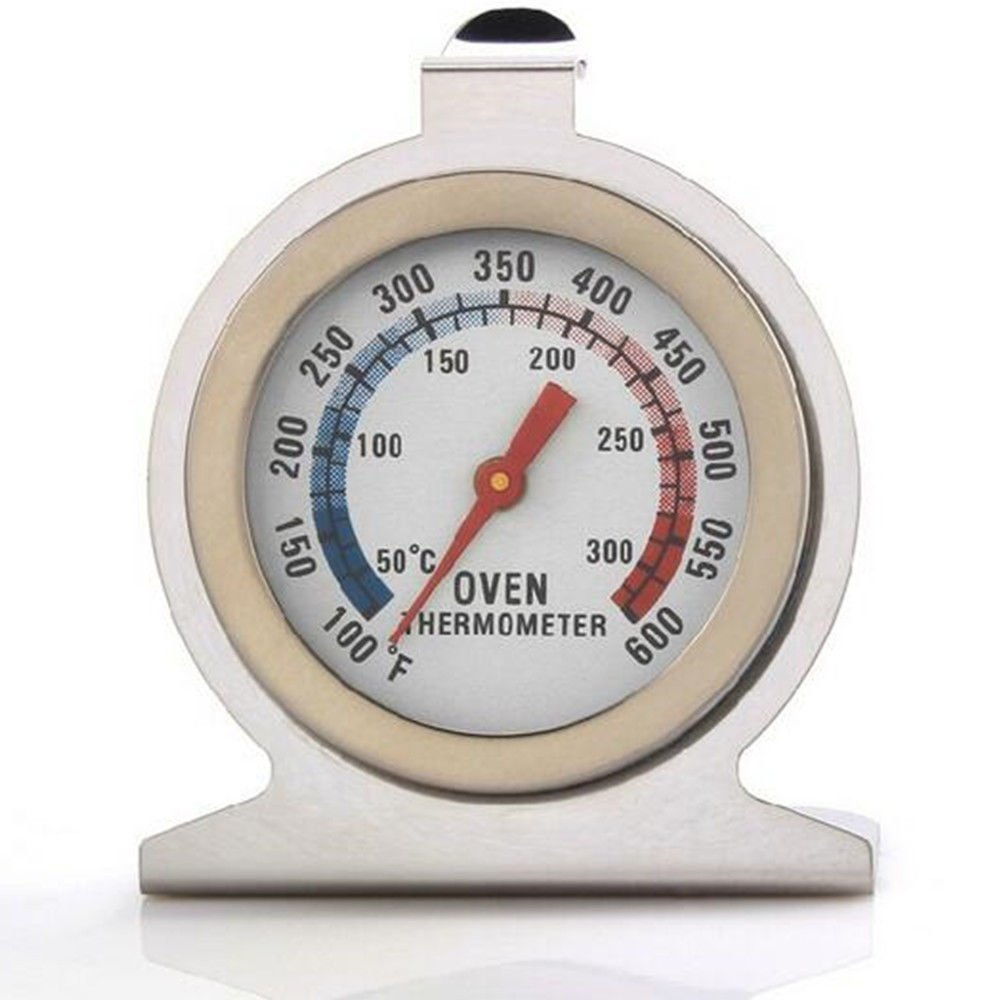 DaoRier Stainless Steel Oven Thermometer (50⁰C - 300⁰C / 100-600⁰F) - Hang Or Stand