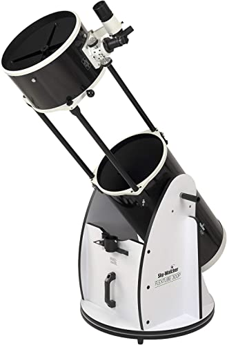 Sky Watcher Flextube 300 Dobsonian 12-inch Collapsible Large Aperture Telescope – Portable, Easy to Use, Perfect for Beginners, White/Black (S11740)