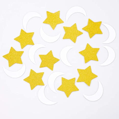 Gold Star Table Confetti Party Decoration