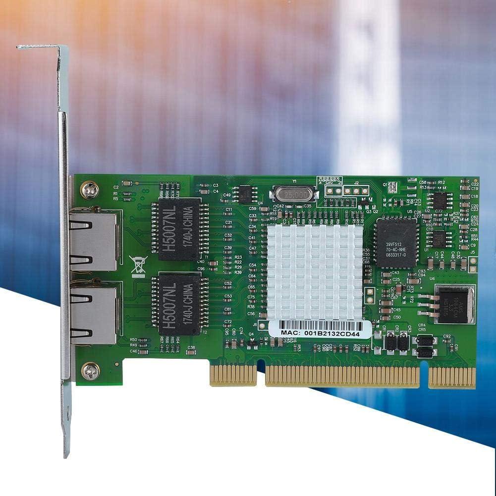 Heayzoki Dual Port Gigabit Network Card,For Intel 8492MT 82546EB PCI Dual Port Gigabit LAN Ethernet Adapter Network Card NIC,Gigabit Lan Card Gigabit Ethernet Adapter For Server,Home,Internet Cafes