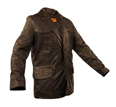 b8fb66d22 Mens Soft Naked Cowhide Genuine Leather Traditional Blazer Sports ...
