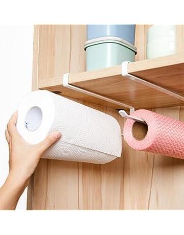 Hosaire Movimiento y Libre Perforado Wrap salvamanteles de plástico Soporte para Rollo de Papel de Cocina