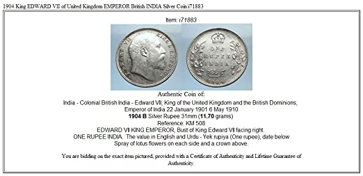 1904 Unknown 1904 King Edward Vii Of United Kingdom Emperor Br Coin