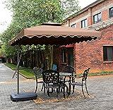 Tylor's Garden 8-1/2 Ft Cantilever Outdoor Patio Umbrella, UV Resistant, 100% Polyester, Coffee