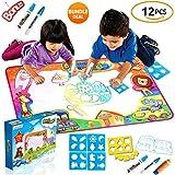 SPECIAL OFFER - LARGE Aqua Magic Mat 34X22 inch, Kids Toys, Water Drawing Mat Toddlers Writing Mat Educational Bonus Free Magic Pens