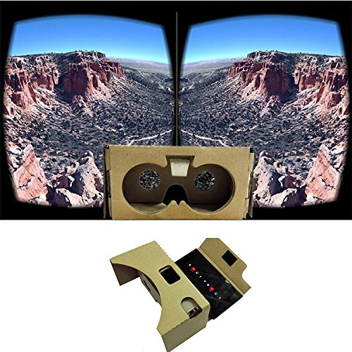 "Wemore(TM)DIY 3D VR Virtual Reality Video Glasses Head Mounted V2.0 Google Cardboard 3D Glasses for Up to 6"" Smart Phones"
