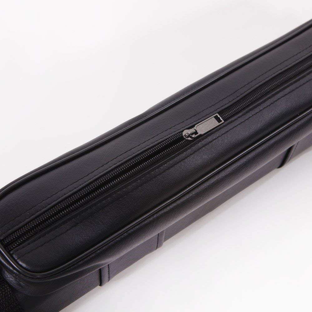 BUENAVO Pool Cue Case Billiard Stick Pool Barrel Hard Cue Tube Case of Imitated Leather with 1//2 4 Hole and Handle PLGT031