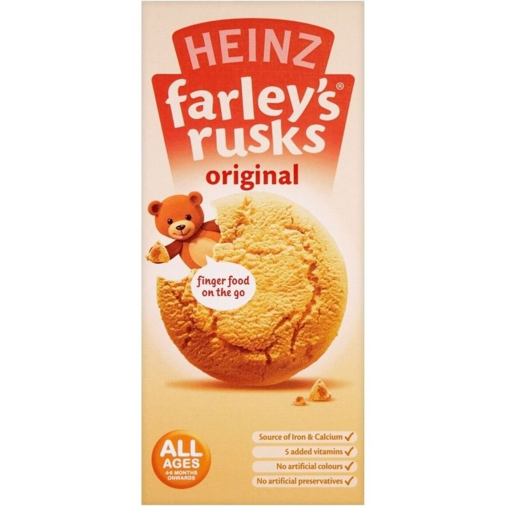 Heinz Farley's Rusks Original 4mth+ (9 per pack - 150g) - Pack of 2