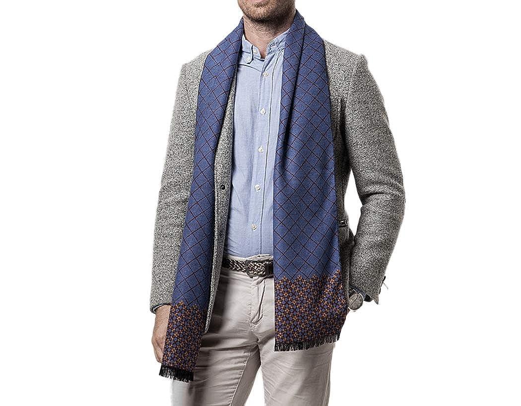 Tngan Mens Plaid Scarf Long Cashmere Feel Winter Fashion Scarves Neck Muffler
