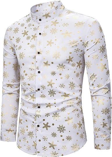 MEIbax Explosión Moda Slim Fit Estampado en Caliente Manga Larga Camisa Hombre Solapa Impresión Tops Camisetas Hombre Cárdigans Delgada Abrigo Outwear: Amazon.es: Ropa y accesorios