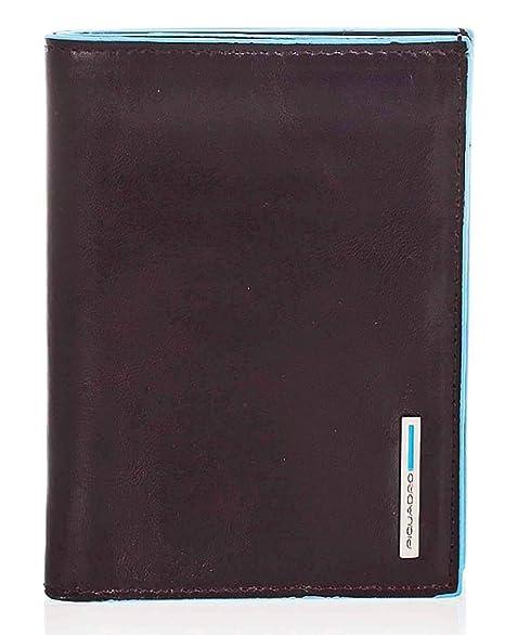 634e6fafb3 Piquadro Blue Square portafoglio da uomo verticale -PU1393B2 (Mogano ...