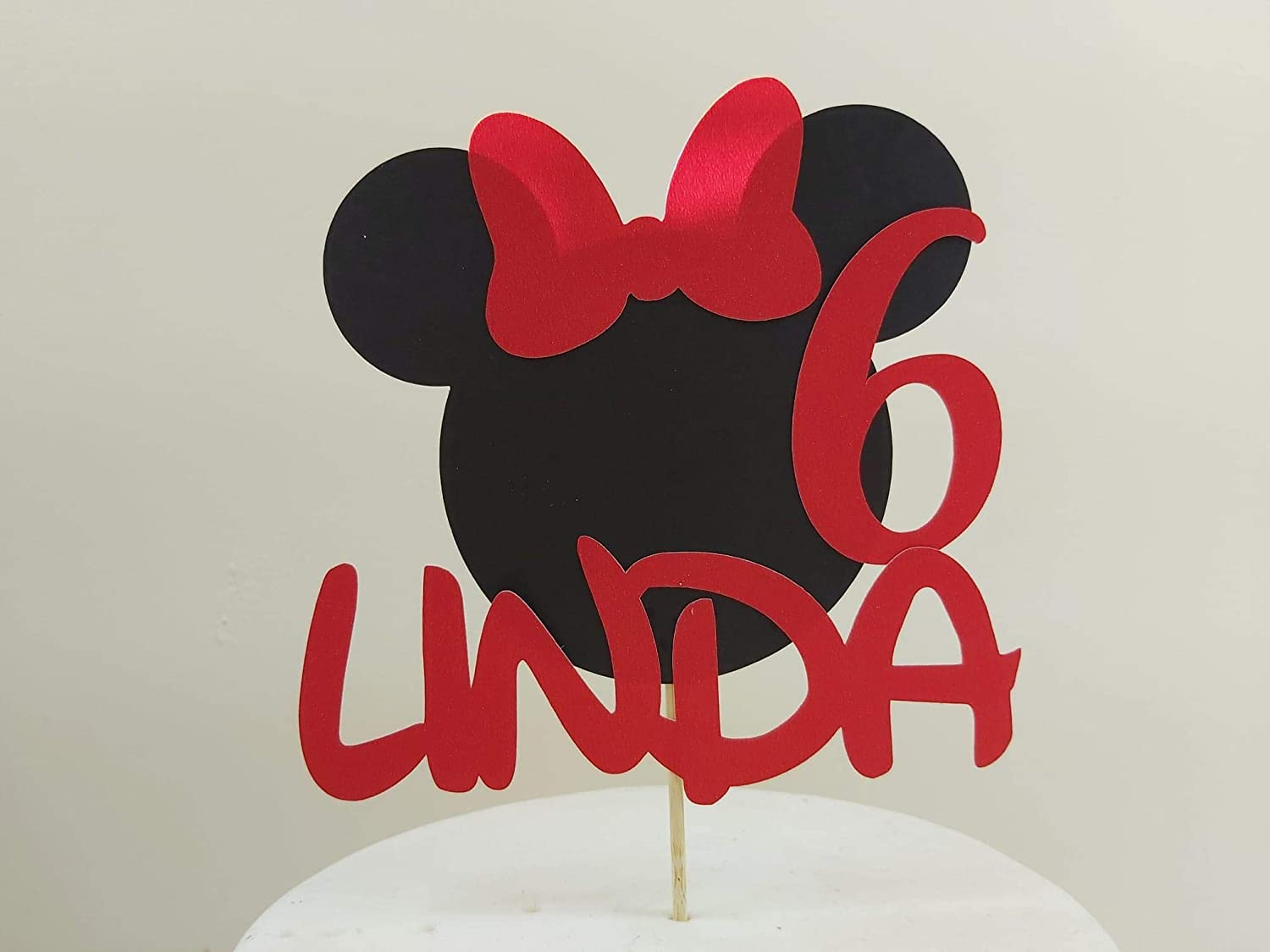 Celebration Personalised Cartoon Mouse Card Cake Topper Birthday