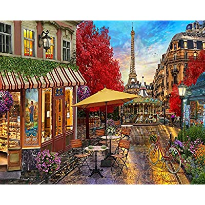 Vermont Christmas Company Evening in Paris Jigsaw Puzzle 1000 Piece: Toys & Games