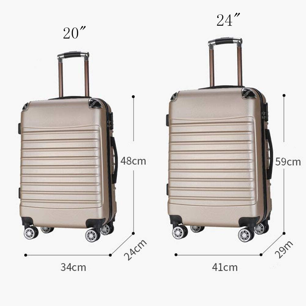 Hongsheng Wrap Angle Trolley Case Cute Solid Color Universal Wheeled Suitcase,Purple,24