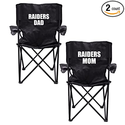 Bon VictoryStore Outdoor Camping Chair   Raiders Parents 2 Black Folding  Camping Chair Set Of 2 With