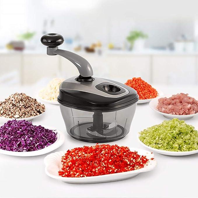 Utensilio de cocina multifunción para cortar platos de verduras, pimientos de harina, la herramienta de mezcla, la máquina de cortar verdura de alimentos: Amazon.es: Hogar