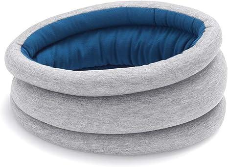 turbo sieste Couleur Bleu voiture et train Coussin de voyage pour dormir dans l/'avion OSTRICHPILLOW ORIGINAL Oreiller cervical accessoire de voyage pour femme et homme Sleepy Blue
