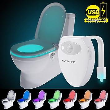 Suptempo Wiederaufladbare Toilettenlicht Mit Bewegungssensor Wc
