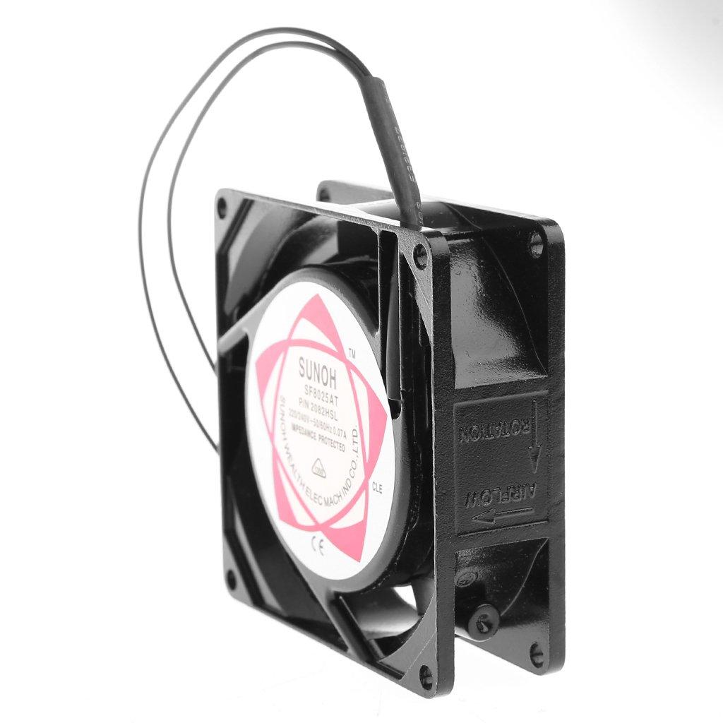 Bilinli SF8025AT 2082HSL 8025 80mm Cojinete de Manga 220-240V AC Ventilador de enfriamiento de Caja de 2 Cables