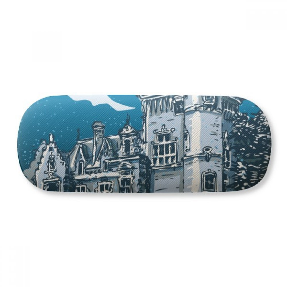 Old Castle Medieval Knights of Europe Emblem Glasses Case Eyeglasses Clam Shell Holder Storage Box