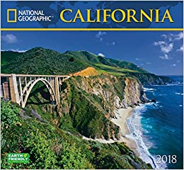 National Geographic California 2018 Wall Calendar: National