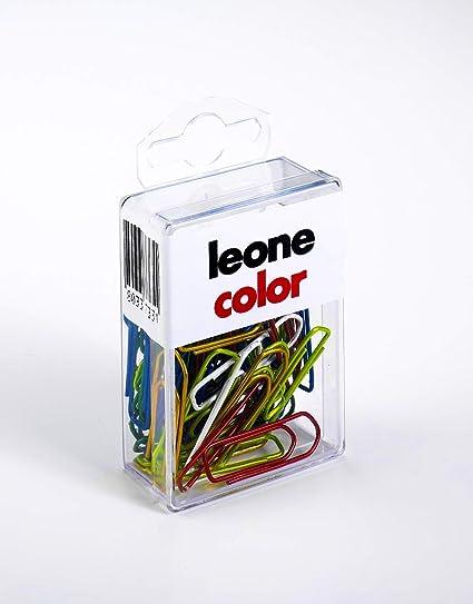 Clips de colores metalizados Leone DellEra N. 4 - mm. 32 - Caja para colgar
