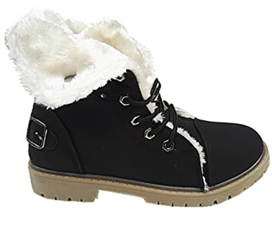 Fille Fourrure Fourrée Baskets Montante Mode Bottines Femme Boots tAIOtS