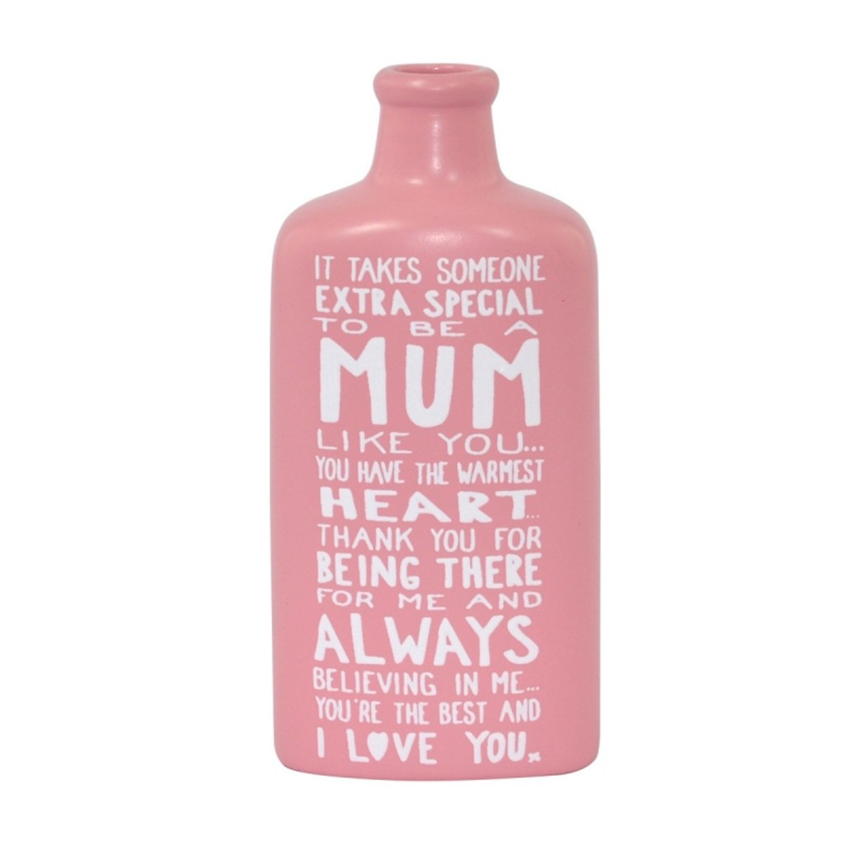Message On A Bottle - Ceramic Message Bottle Keepsake - Mum Xpressions