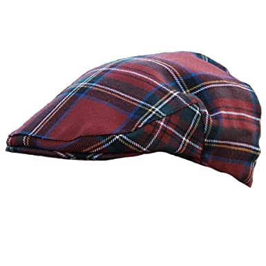 e9c833739 Plaid Flat Cap in Stewart Royal Plaid - Made in Scotland from 100% Wool