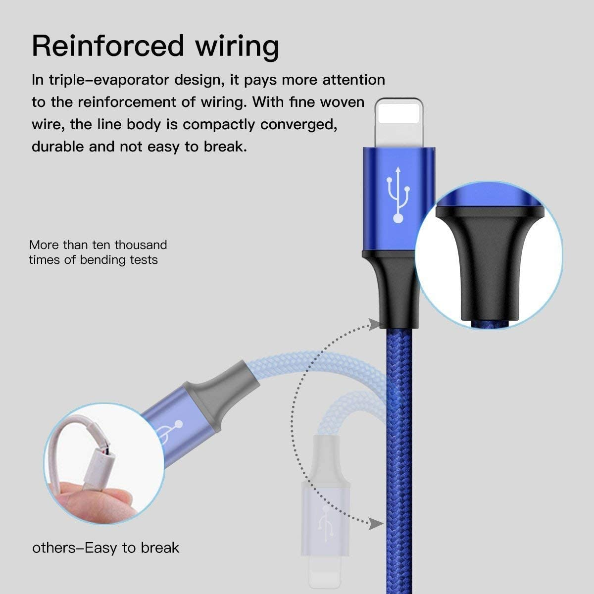 Nokia Black Android Samsung Galaxy iPad SFTRANS 3.9ft 1.2m 3 in 1 Nylon Braided Cable Compatible with Micro USB Type C Apple iPhone Echo Dot Huawei LG Motorola Kindle Multi USB Charger Cable