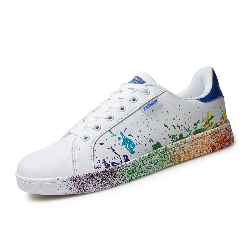 ARKE Hombres y Mujeres Personalidad plana Zapatos de impresión Deportes  casuales Skateboarding Zapatillas Moda Zapatillas Azul 72e5e38109d2b