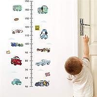 ufengke Autos Let's race hoogte meten wandsticker wandsticker vinyl wanddecoratie voor kinderkamer slaapkamer woonkamer
