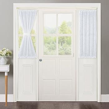 Amazon Pony Dance Sidelight Panel Curtains Sheer Front Door