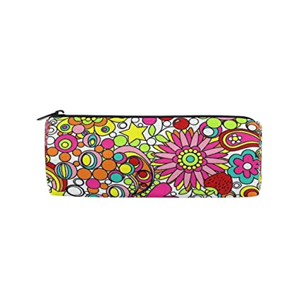 Pencil Case Hippie Flower Best School Pen Pouch Office ...