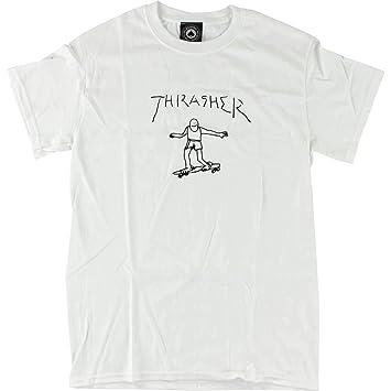 41111713561 Thrasher Magazine Gonzales T-shirt Blanc - grande  Amazon.fr  Sports ...
