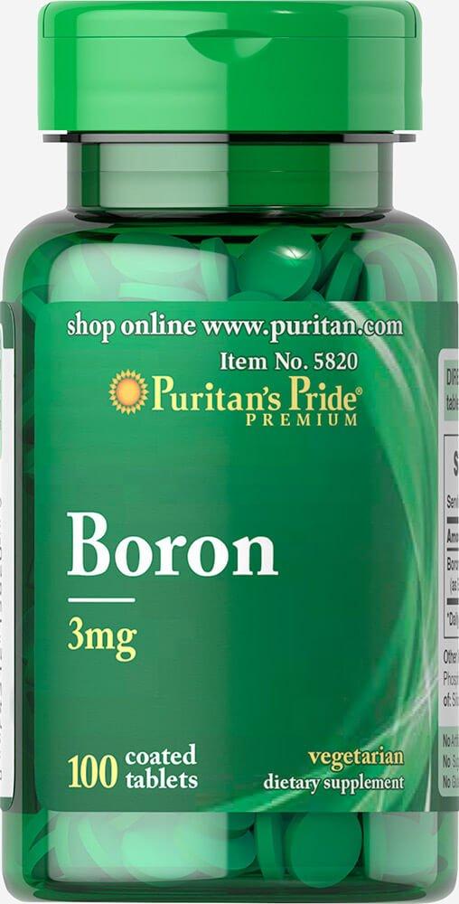 Boro 3 mg 100 tabletas. Puritans Pride 1 und.: Amazon.es: Salud y cuidado personal