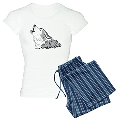ecb6a6b3288f CafePress Wolf Womens Novelty Cotton Pajama Set, Comfortable PJ Sleepwear