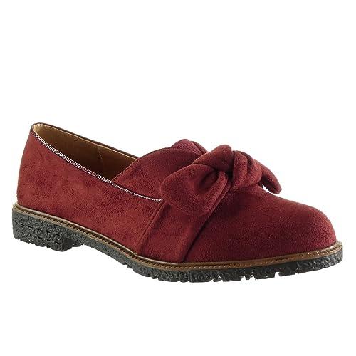 Angkorly - Zapatillas de Moda Mocasines Slip-on Mujer Nodo Tanga Talón Tacón Ancho 2 CM: Amazon.es: Zapatos y complementos
